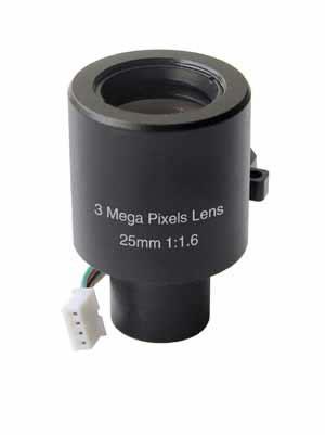 3 Mega Pixel 25mm IR Lens with 1/3