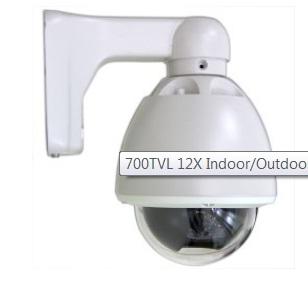 Mini High Speed Outdoor Pan Tilt Zoom Dome 700 TV Line