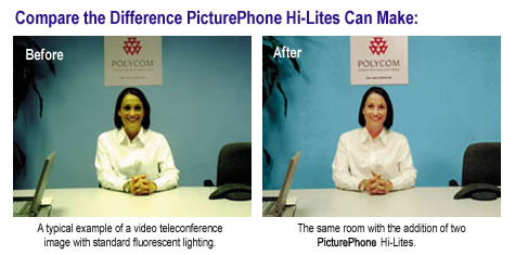 Navitar Hi-Lite Videoconference Lighting Image Comparison